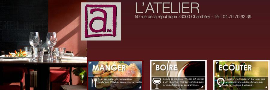 Chambery restaurant Atelier